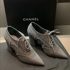 Authentic Chanel ankle Oxford Boots